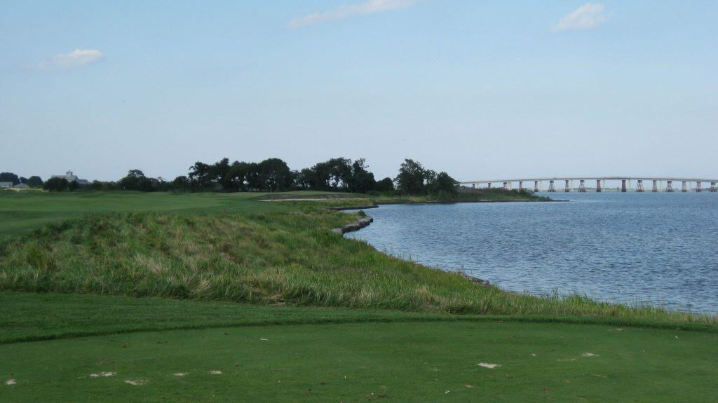 Rum Pointe golf course in Ocean City Maryland. View from the course overlooking the bay.